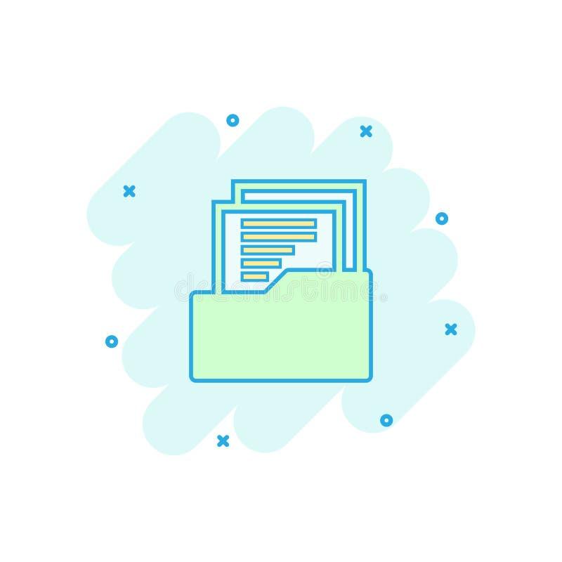 Διανυσματικό εικονίδιο εγγράφων κινούμενων σχεδίων στο κωμικό ύφος Αρχείο στοιχείων αρχείων s διανυσματική απεικόνιση