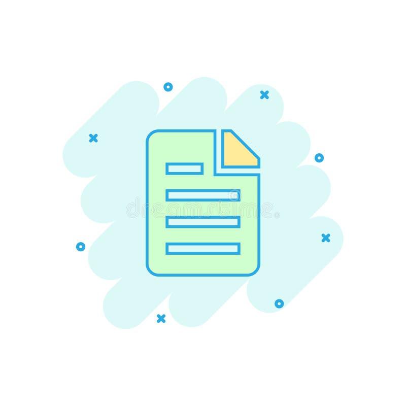 Διανυσματικό εικονίδιο εγγράφων κινούμενων σχεδίων στο κωμικό ύφος Αρχείο στοιχείων αρχείων s ελεύθερη απεικόνιση δικαιώματος