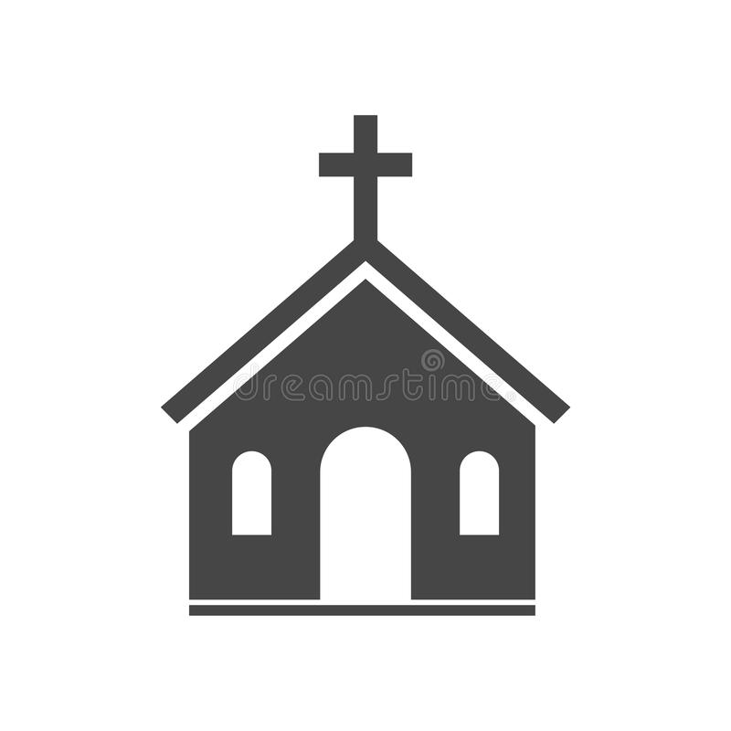 Διανυσματικό εικονίδιο εκκλησιών ελεύθερη απεικόνιση δικαιώματος