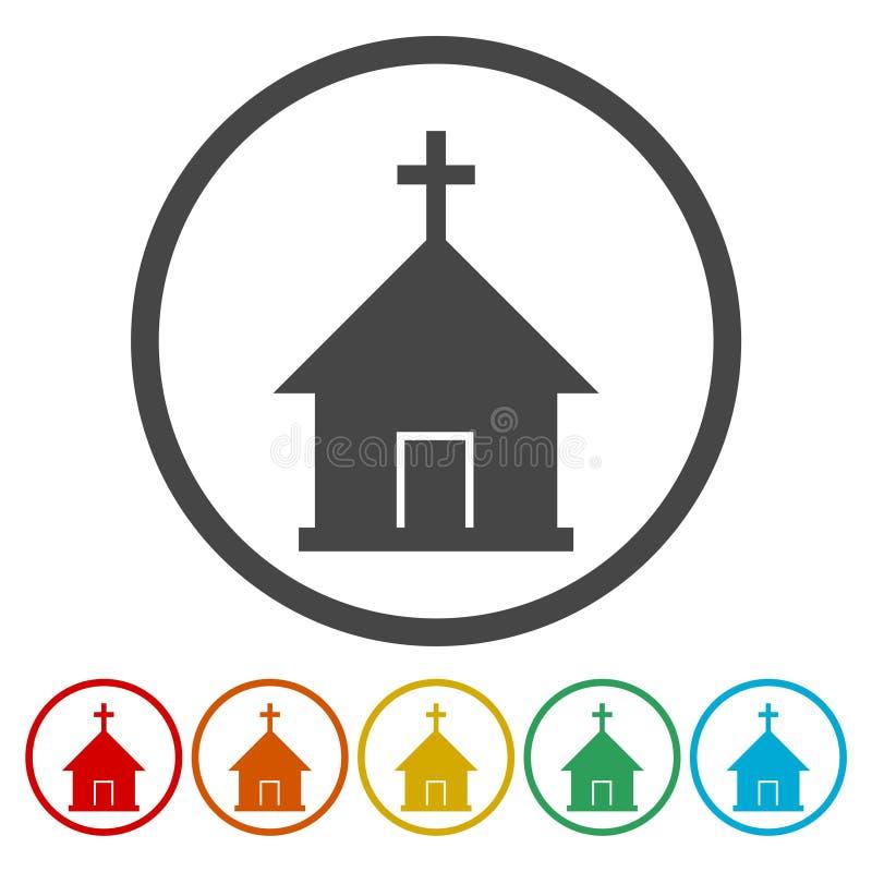 Διανυσματικό εικονίδιο εκκλησιών απεικόνιση αποθεμάτων