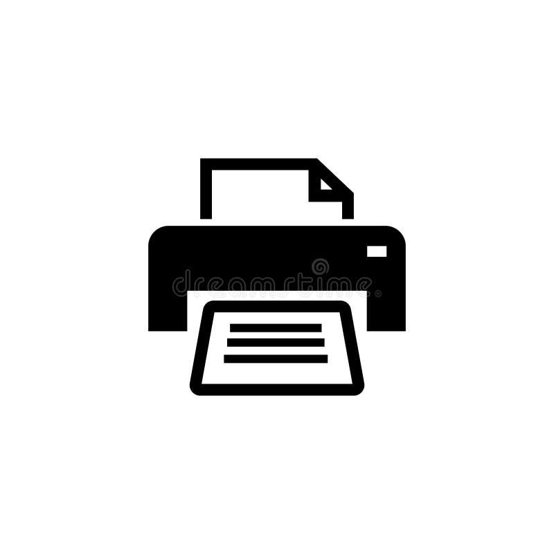 Διανυσματικό εικονίδιο εκτυπωτών Απεικόνιση που απομονώνεται για το γραφικό και σχέδιο Ιστού διανυσματική απεικόνιση