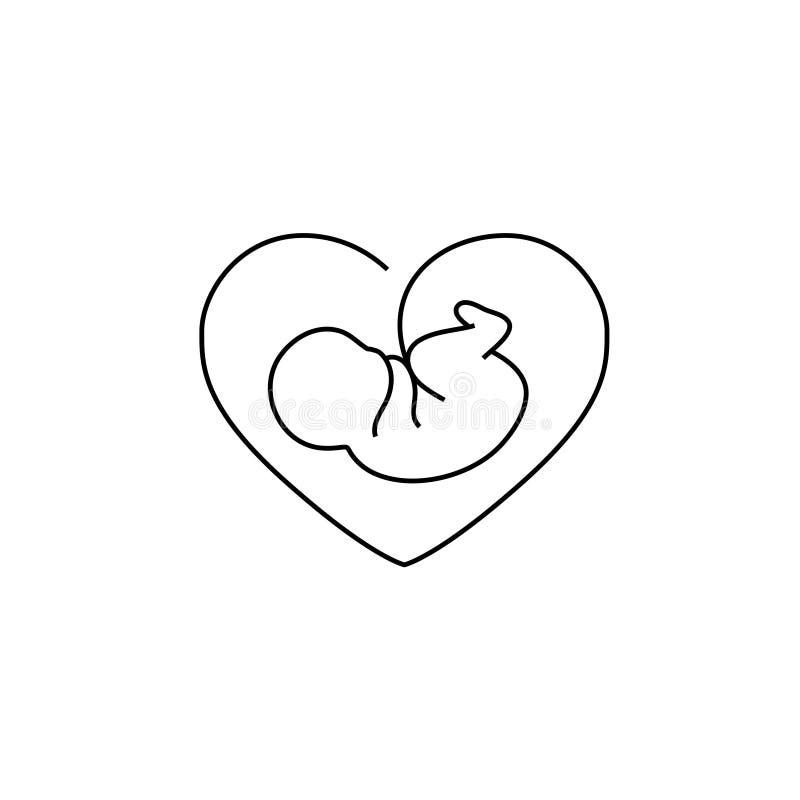 Διανυσματικό εικονίδιο εμβρύων διανυσματική απεικόνιση