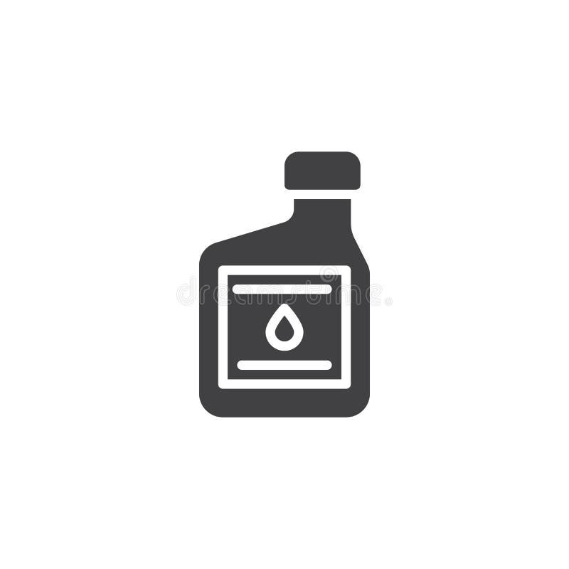 Διανυσματικό εικονίδιο εμπορευματοκιβωτίων πετρελαίου μηχανών ελεύθερη απεικόνιση δικαιώματος