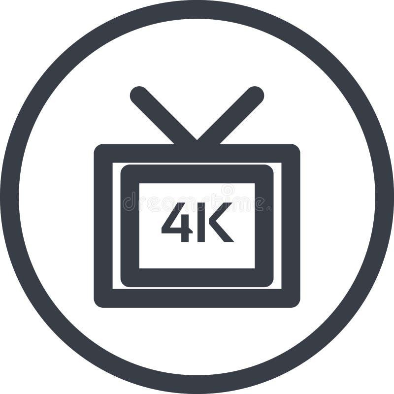 Διανυσματικό εικονίδιο ενός πλήρους τηλεοπτικού μυρμηκικού άλατος HD 4k στο ύφος τέχνης γραμμών Εικονοκύτταρο τέλειο ελεύθερη απεικόνιση δικαιώματος