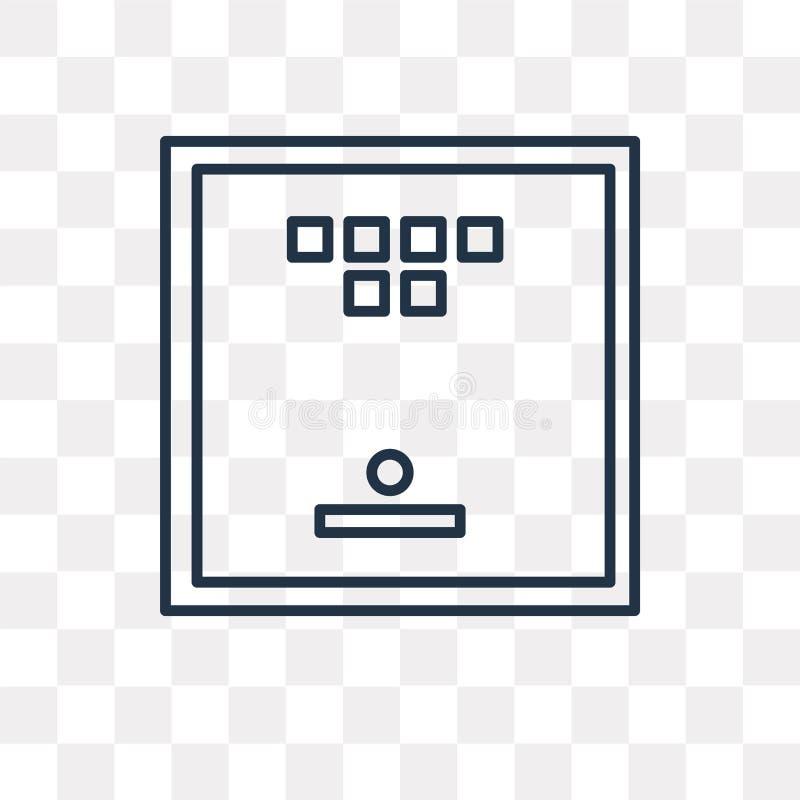 Διανυσματικό εικονίδιο επιτραπέζιων παιχνιδιών που απομονώνεται στο διαφανές υπόβαθρο, linea ελεύθερη απεικόνιση δικαιώματος