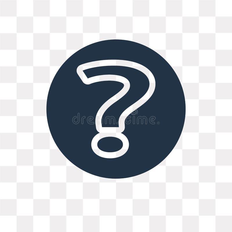 Διανυσματικό εικονίδιο ερώτησης που απομονώνεται στο διαφανές υπόβαθρο, Questio διανυσματική απεικόνιση