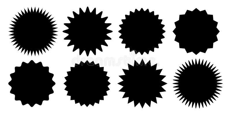 Διανυσματικό εικονίδιο ηλιοφάνειας αυτοκόλλητων ετικεττών πώλησης Promo starburst απεικόνιση αποθεμάτων