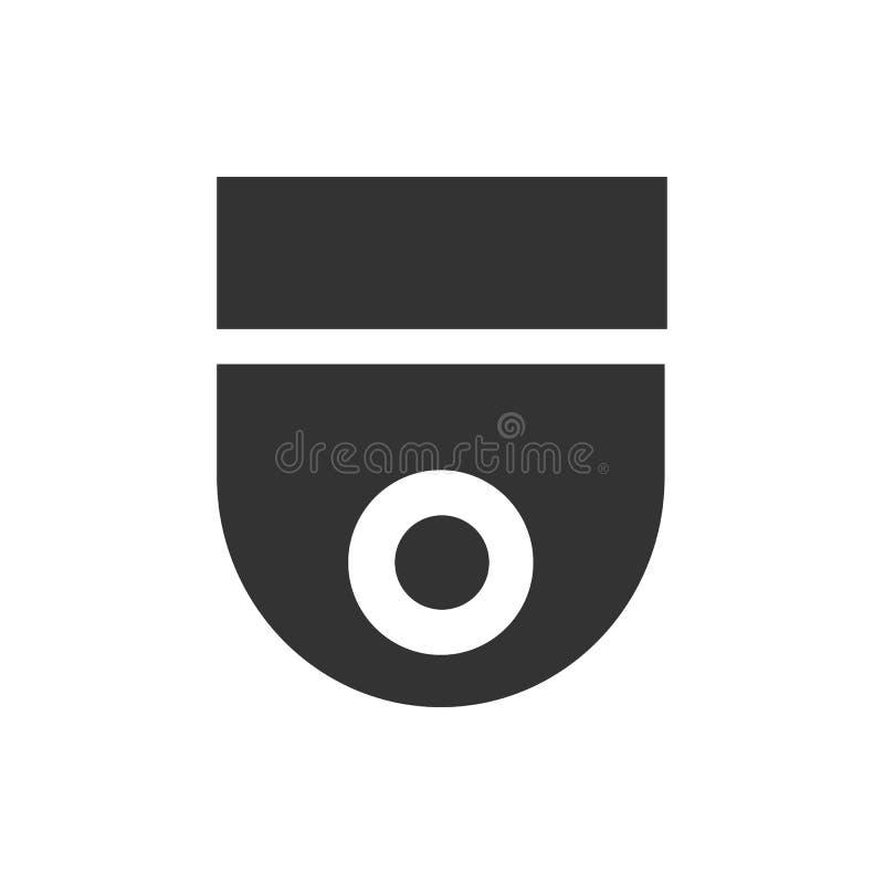 Διανυσματικό εικονίδιο κάμερων ασφαλείας Διανυσματικό εικονίδιο ασφάλειας ελεύθερη απεικόνιση δικαιώματος