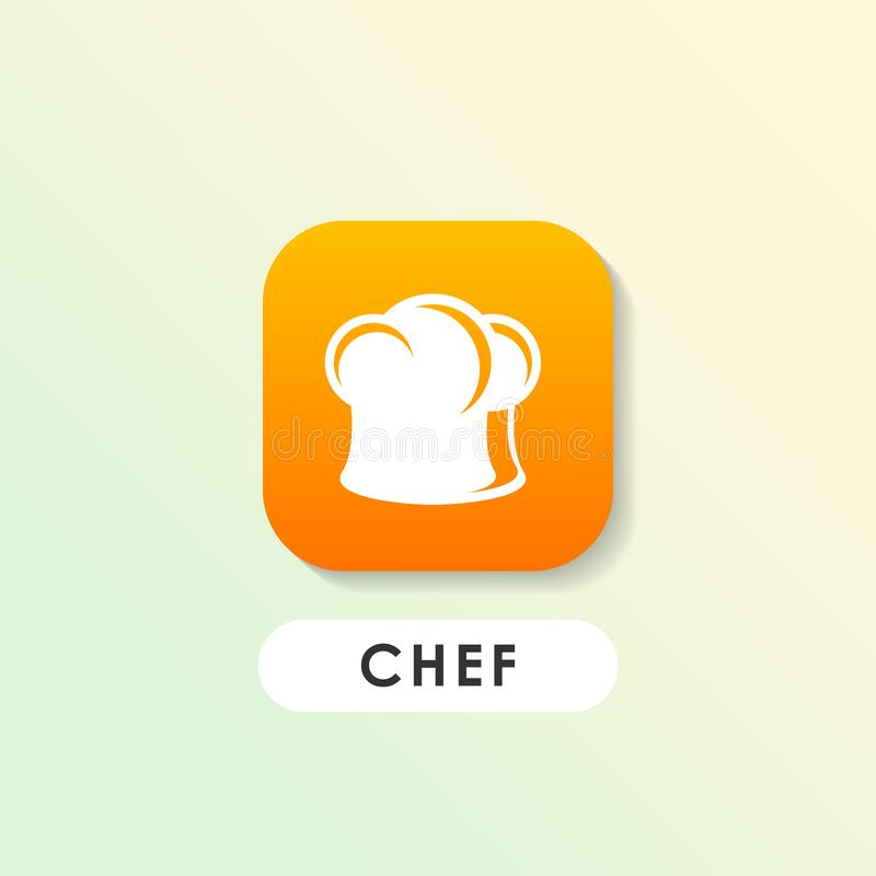 διανυσματικό εικονίδιο καπέλων μαγείρων s Πρότυπο σχεδίου λογότυπων αρχιμαγείρων απεικόνιση αποθεμάτων