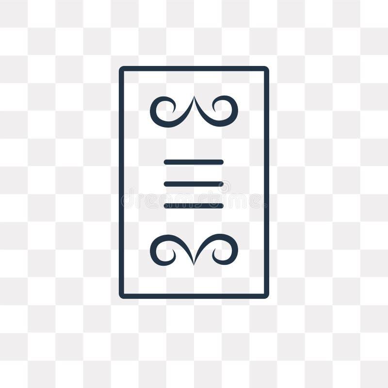 Διανυσματικό εικονίδιο καρτών επιλογών που απομονώνεται στο διαφανές υπόβαθρο, γραμμικό ελεύθερη απεικόνιση δικαιώματος