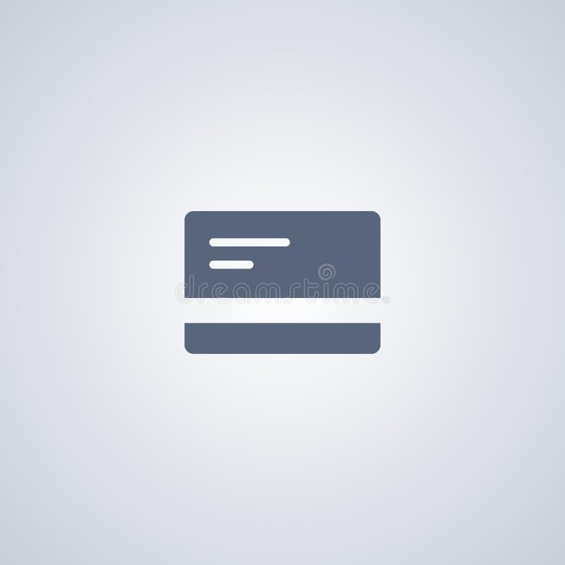 Διανυσματικό εικονίδιο καρτών, διανυσματικό εικονίδιο πιστωτικών καρτών διανυσματική απεικόνιση