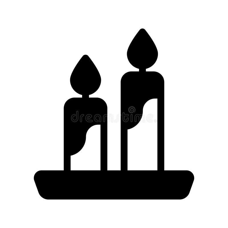 Διανυσματικό εικονίδιο κεριών glyph απεικόνιση αποθεμάτων