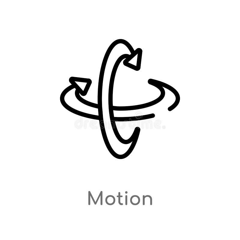διανυσματικό εικονίδιο κινήσεων περιλήψεων απομονωμένη μαύρη απλή απεικόνιση στοιχείων γραμμών από την αυξημένη έννοια πραγματικό διανυσματική απεικόνιση
