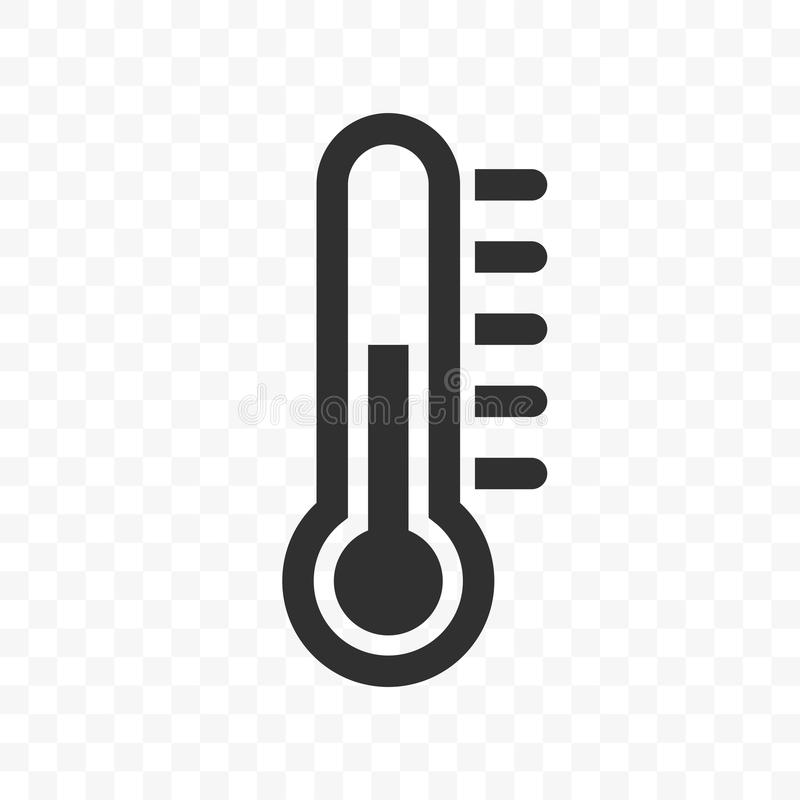 Διανυσματικό εικονίδιο κλίμακας θερμοκρασίας θερμομέτρων απεικόνιση αποθεμάτων