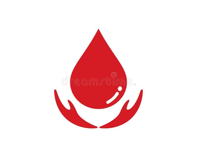 Διανυσματικό εικονίδιο λογότυπων αίματος διανυσματική απεικόνιση