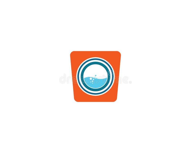 Διανυσματικό εικονίδιο λογότυπων πλυντηρίων ελεύθερη απεικόνιση δικαιώματος