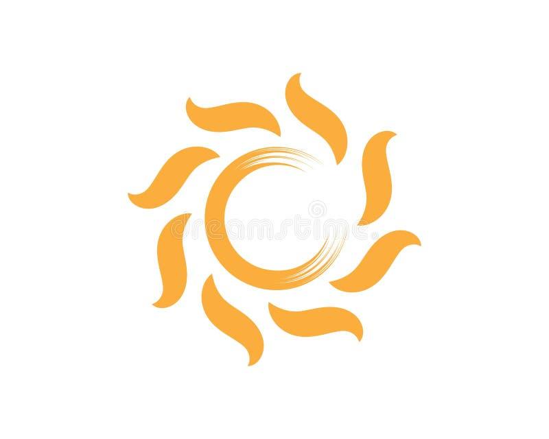 διανυσματικό εικονίδιο λογότυπων ilustration ήλιων διανυσματική απεικόνιση
