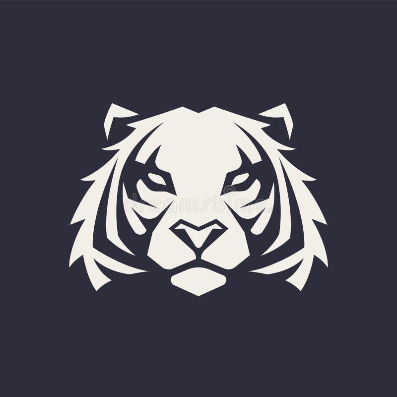 Διανυσματικό εικονίδιο μασκότ τιγρών ελεύθερη απεικόνιση δικαιώματος