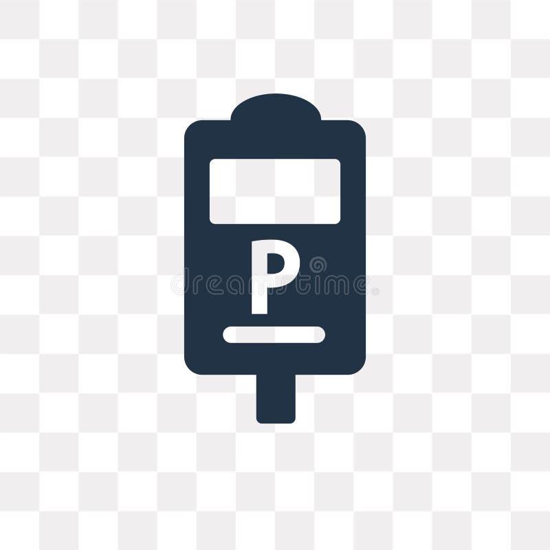 Διανυσματικό εικονίδιο μετρητών χώρων στάθμευσης που απομονώνεται στο διαφανές υπόβαθρο, PA απεικόνιση αποθεμάτων