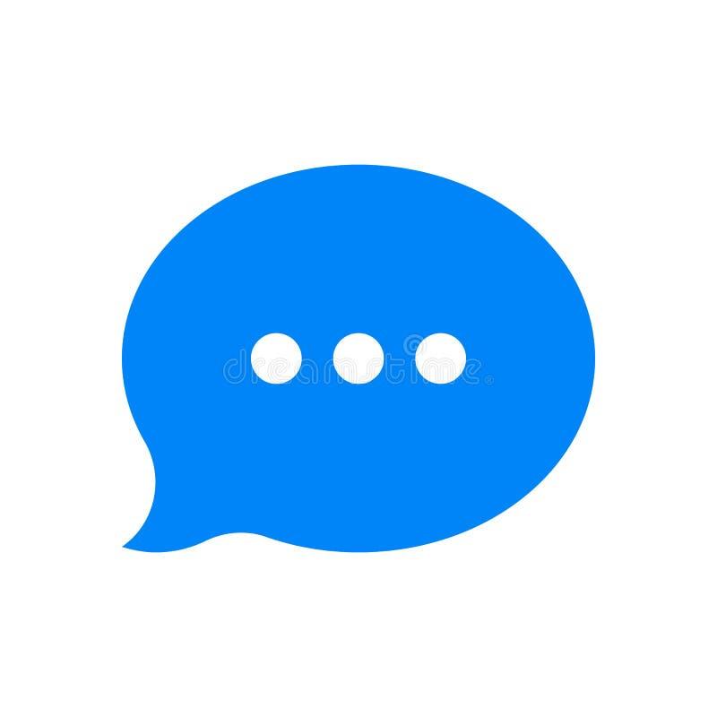 Διανυσματικό εικονίδιο μηνυμάτων φυσαλίδων συνομιλίας διανυσματική απεικόνιση