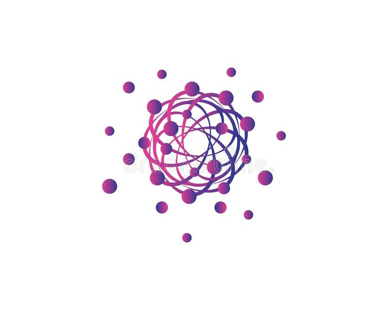 Διανυσματικό εικονίδιο μορίων διανυσματική απεικόνιση