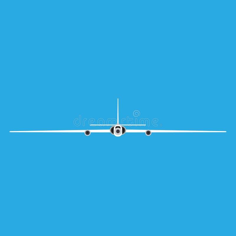 Διανυσματικό εικονίδιο μπροστινής άποψης αεροπλάνων κατασκόπων Τηλεχειρισμός αεροπορίας αεροσκαφών κηφήνων Αεριωθούμενη δύναμη επ διανυσματική απεικόνιση