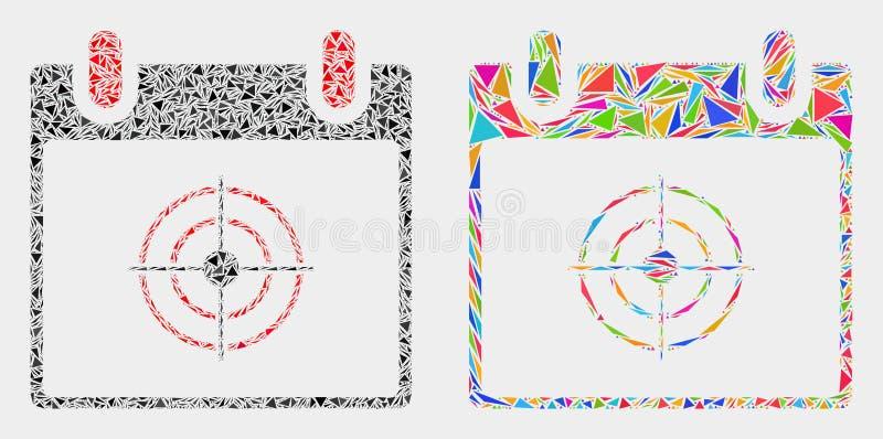 Διανυσματικό εικονίδιο μωσαϊκών ημερολογιακών σελίδων στόχων των στοιχείων τριγώνων ελεύθερη απεικόνιση δικαιώματος