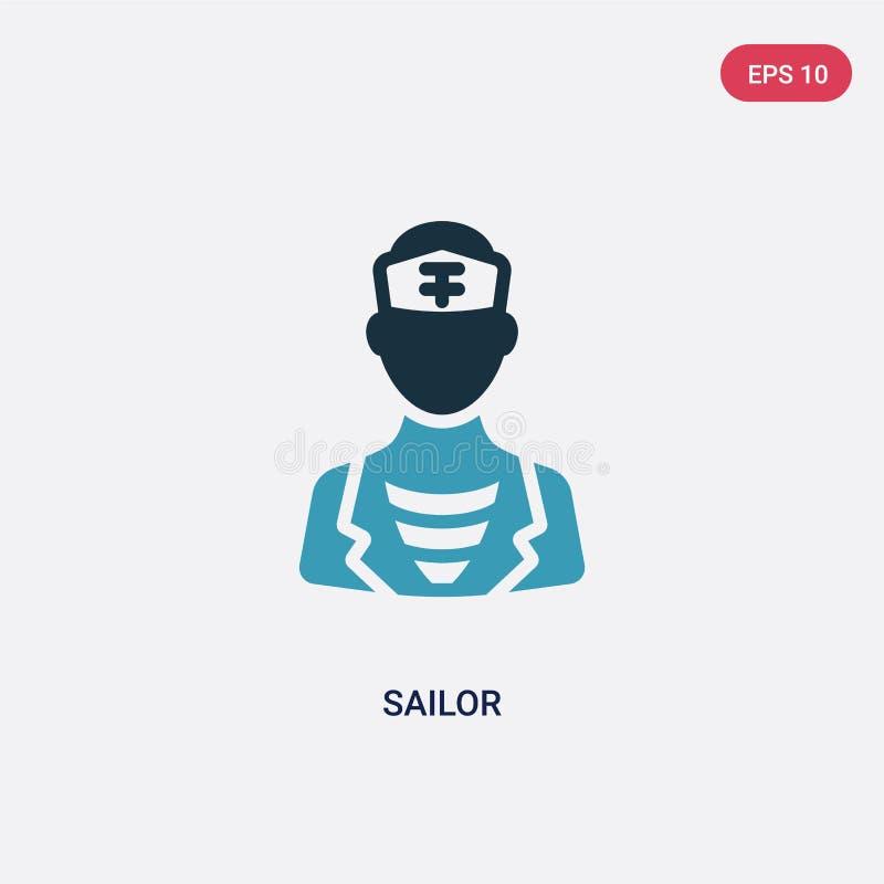Διανυσματικό εικονίδιο ναυτικών δύο χρώματος από τη ναυτική έννοια το απομονωμένο μπλε σύμβολο σημαδιών ναυτικών διανυσματικό μπο ελεύθερη απεικόνιση δικαιώματος