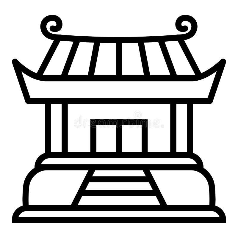 Βουδιστικό εικονίδιο ναών, ύφος περιλήψεων ελεύθερη απεικόνιση δικαιώματος