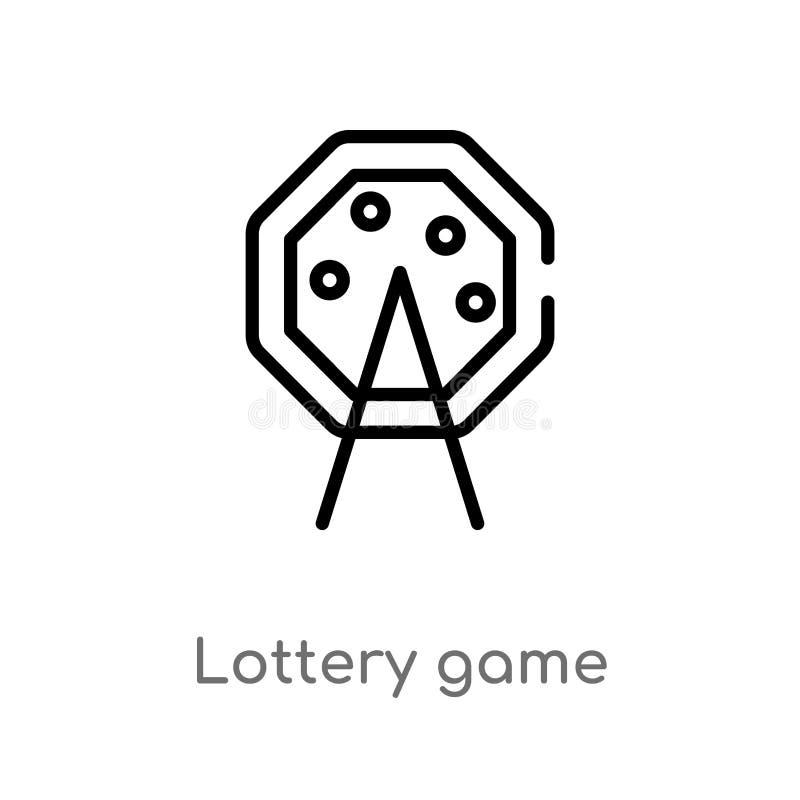 διανυσματικό εικονίδιο παιχνιδιών λαχειοφόρων αγορών περιλήψεων απομονωμένη μαύρη απλή απεικόνιση στοιχείων γραμμών από την ψυχαγ απεικόνιση αποθεμάτων