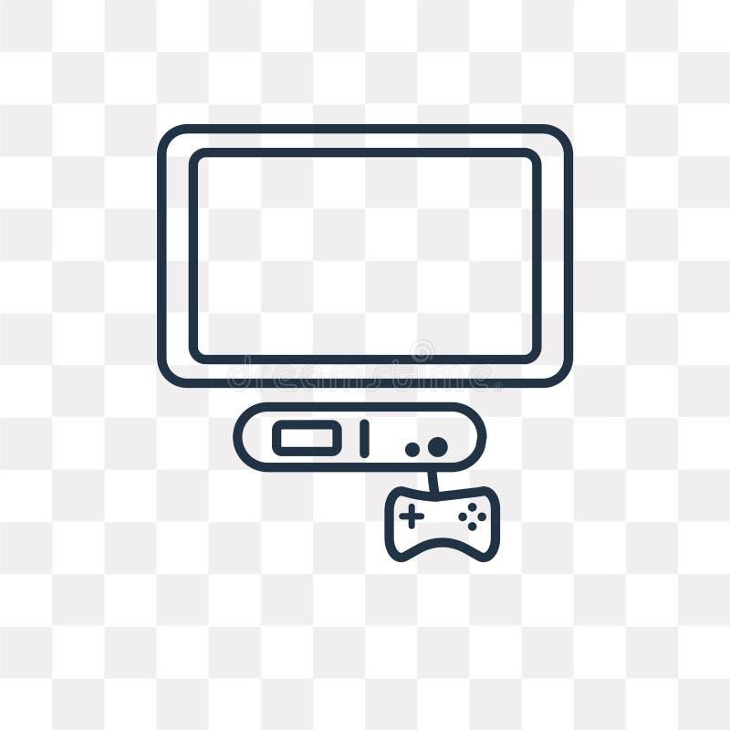 Διανυσματικό εικονίδιο παιχνιδιών που απομονώνεται στο διαφανές υπόβαθρο, γραμμικό παιχνίδι απεικόνιση αποθεμάτων