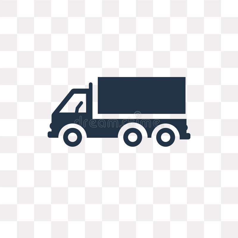 Διανυσματικό εικονίδιο πλάγιας όψης φορτηγών που απομονώνεται στο διαφανές υπόβαθρο, διανυσματική απεικόνιση