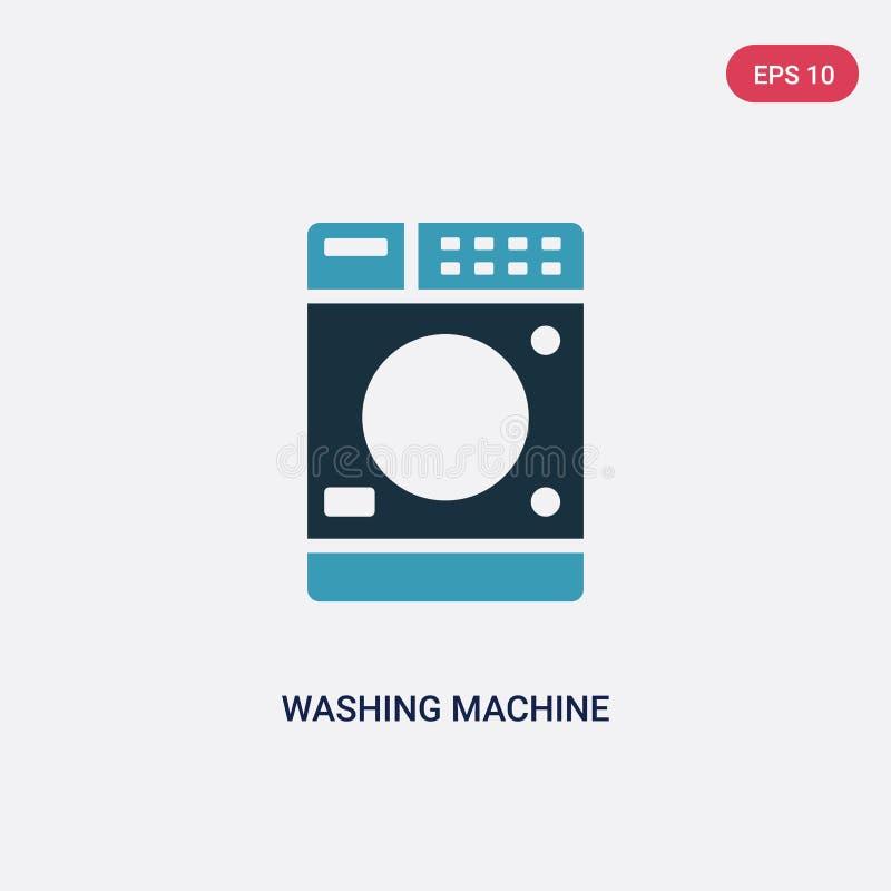 Διανυσματικό εικονίδιο πλυντηρίων δύο χρώματος από την έννοια σημαδιών το απομονωμένο μπλε σύμβολο σημαδιών πλυντηρίων διανυσματι απεικόνιση αποθεμάτων