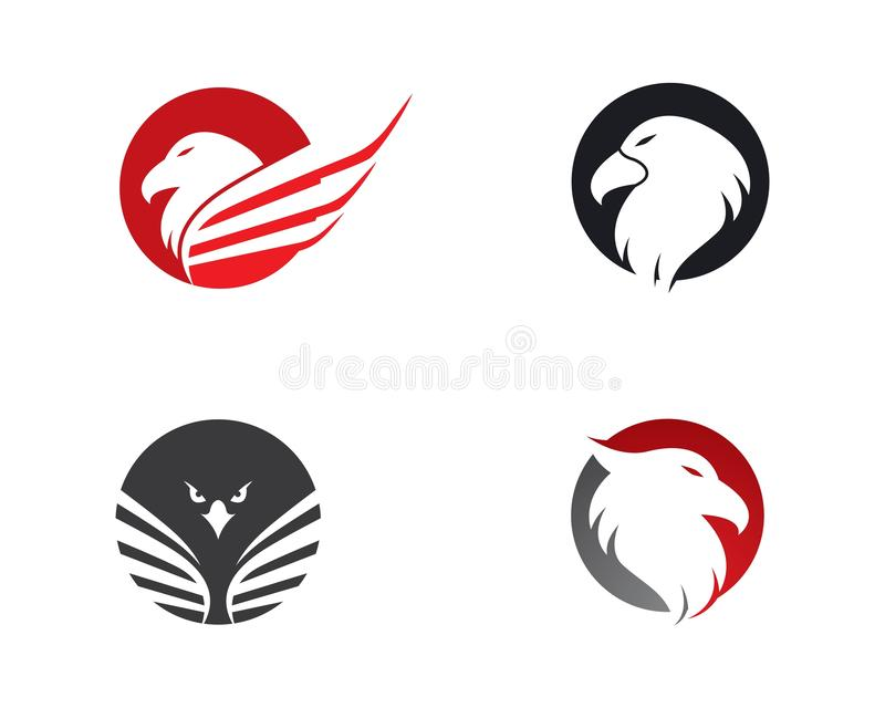 Διανυσματικό εικονίδιο προτύπων λογότυπων αετών διανυσματική απεικόνιση