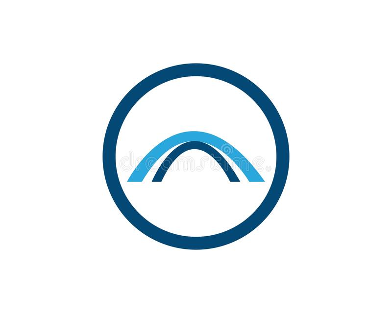 Διανυσματικό εικονίδιο προτύπων λογότυπων γεφυρών ελεύθερη απεικόνιση δικαιώματος