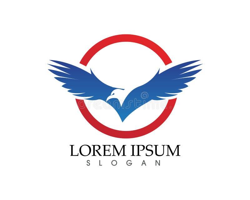 Διανυσματικό εικονίδιο προτύπων λογότυπων πουλιών αετών γερακιών ελεύθερη απεικόνιση δικαιώματος