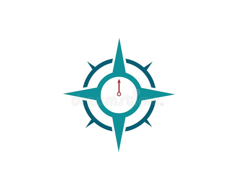 Διανυσματικό εικονίδιο προτύπων λογότυπων πυξίδων διανυσματική απεικόνιση