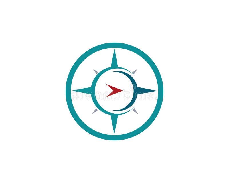 Διανυσματικό εικονίδιο προτύπων λογότυπων πυξίδων ελεύθερη απεικόνιση δικαιώματος