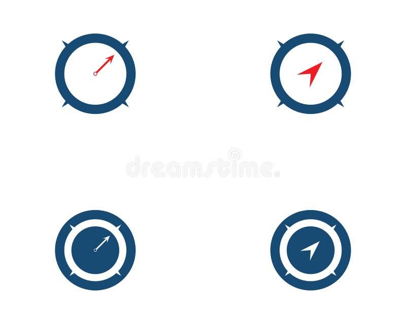 Διανυσματικό εικονίδιο προτύπων λογότυπων πυξίδων απεικόνιση αποθεμάτων