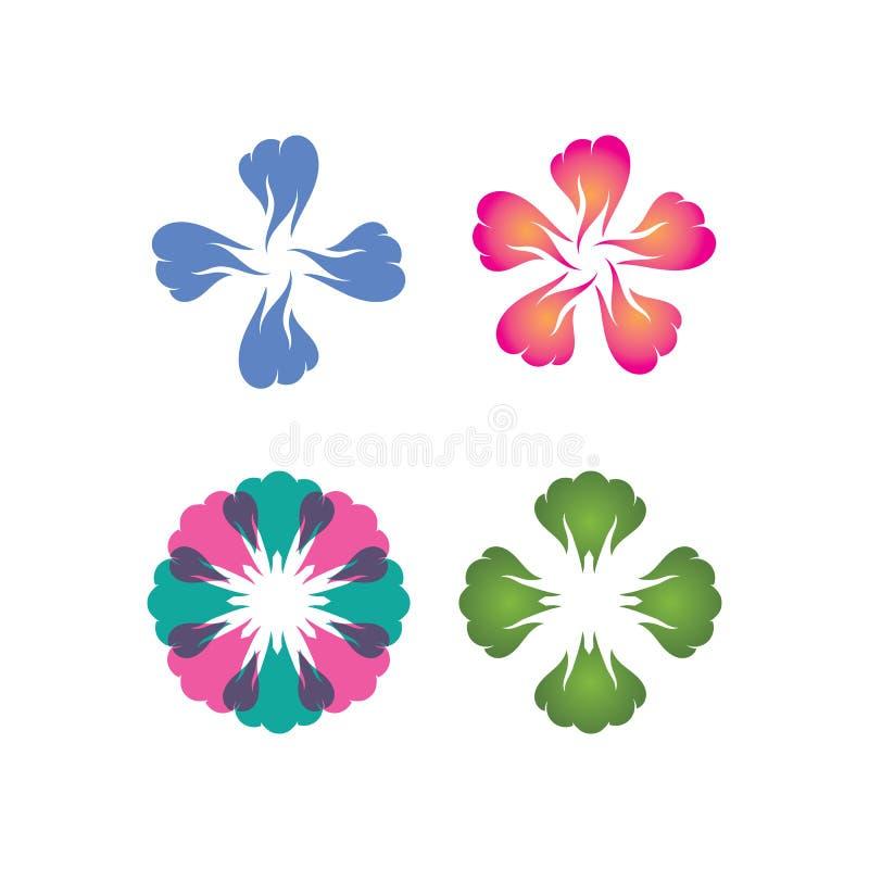 Διανυσματικό εικονίδιο προτύπων λογότυπων σχεδίου λουλουδιών ομορφιάς απεικόνιση αποθεμάτων