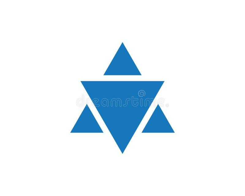 Διανυσματικό εικονίδιο προτύπων του Δαβίδ αστεριών διανυσματική απεικόνιση