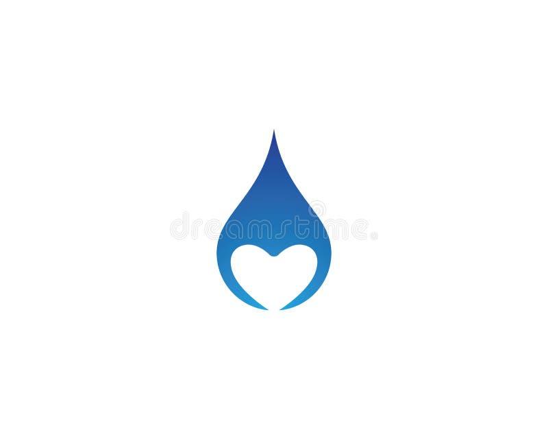 Διανυσματικό εικονίδιο πτώσης νερού ελεύθερη απεικόνιση δικαιώματος