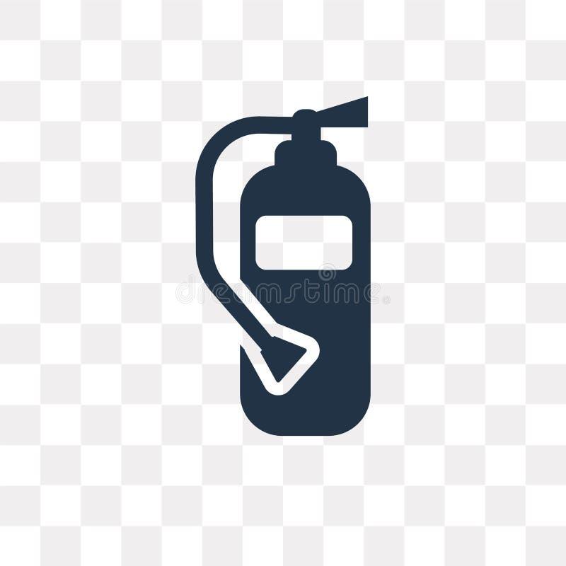 Διανυσματικό εικονίδιο πυροσβεστήρων που απομονώνεται στο διαφανές υπόβαθρο διανυσματική απεικόνιση