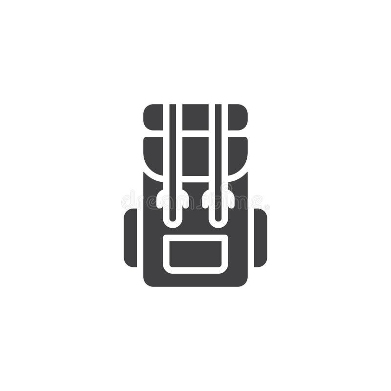 Διανυσματικό εικονίδιο σακιδίων πλάτης πεζοπορίας ελεύθερη απεικόνιση δικαιώματος
