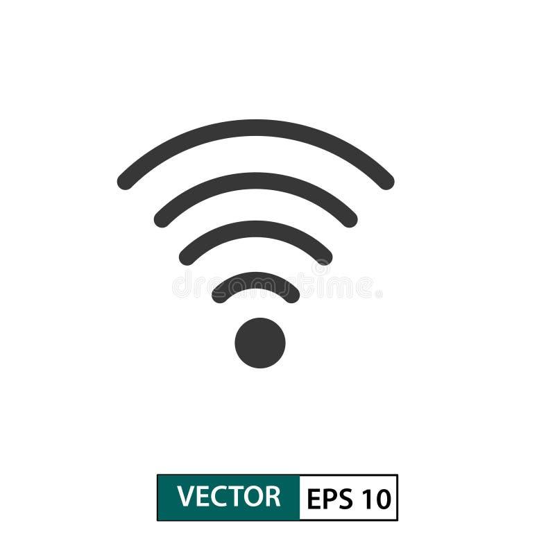 Διανυσματικό εικονίδιο σημάτων Wifi r r διανυσματική απεικόνιση