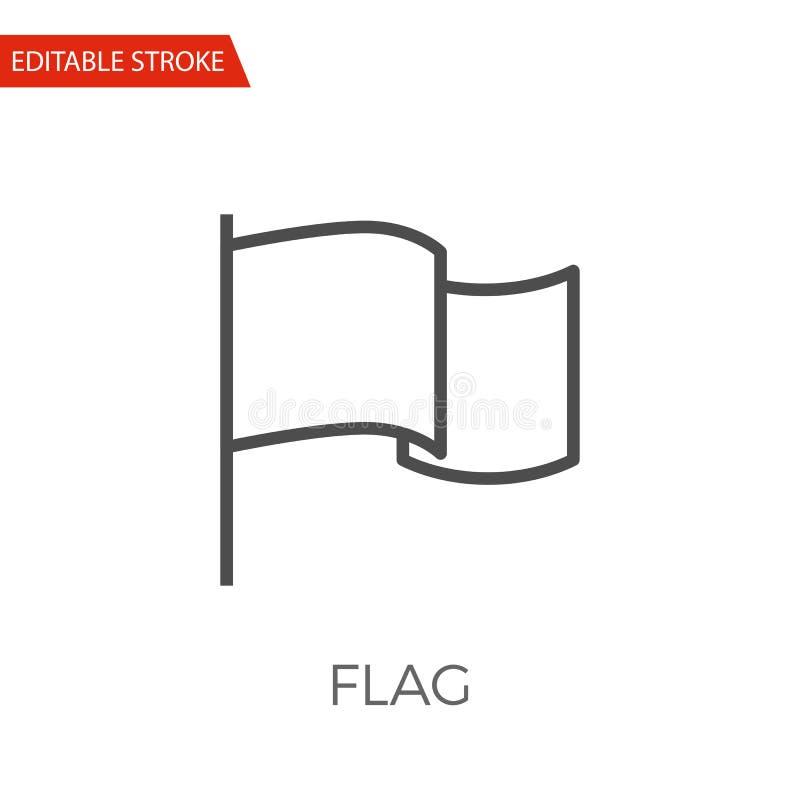 Διανυσματικό εικονίδιο σημαιών διανυσματική απεικόνιση