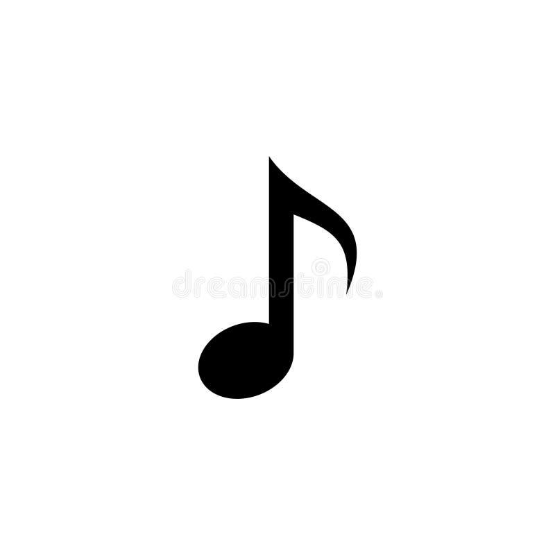 Διανυσματικό εικονίδιο 4 σημειώσεων μουσικής ελεύθερη απεικόνιση δικαιώματος