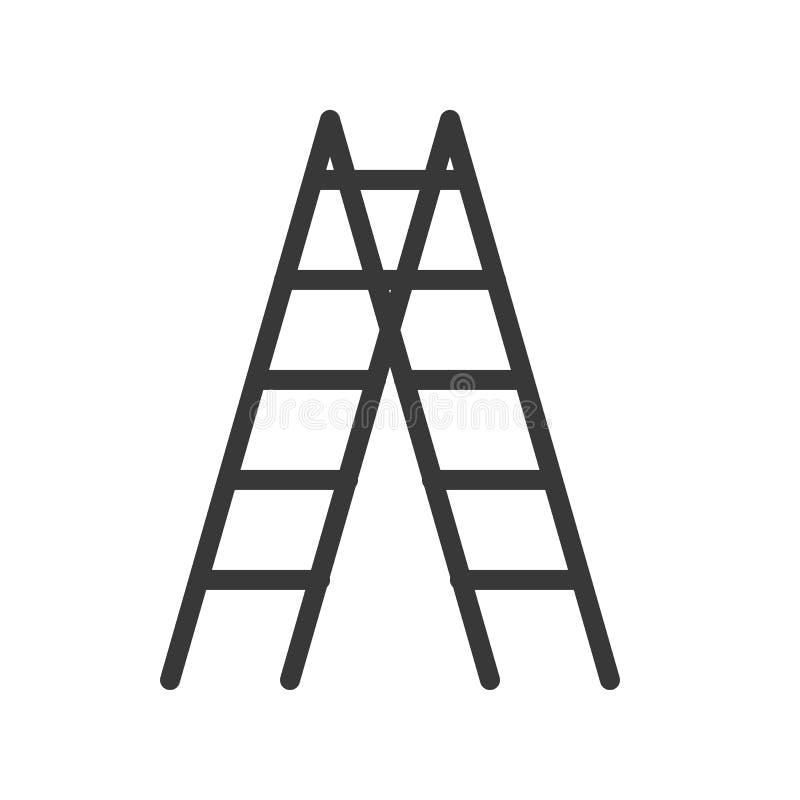 Διανυσματικό εικονίδιο σκαλών, handyman εργαλείο και εξοπλισμός απεικόνιση αποθεμάτων