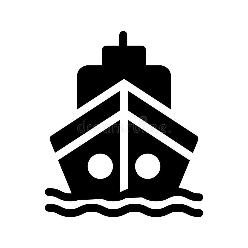 Διανυσματικό εικονίδιο σκαφών glyph ελεύθερη απεικόνιση δικαιώματος