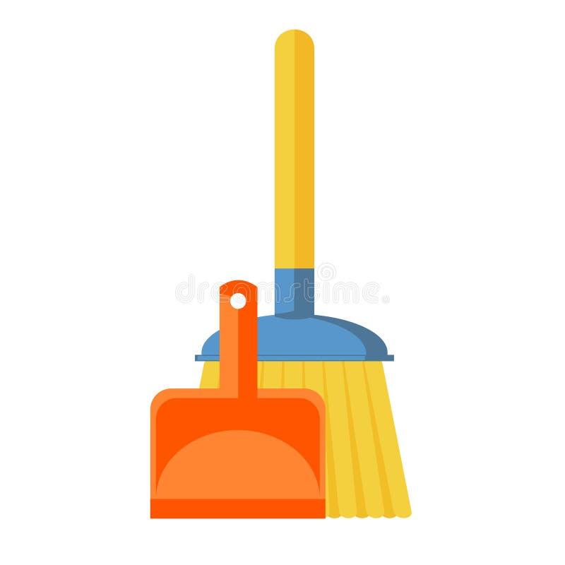 Διανυσματικό εικονίδιο σκουπών ελεύθερη απεικόνιση δικαιώματος